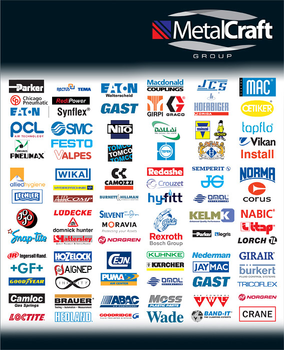 set of logos of companies that Metalcraft are resellers for